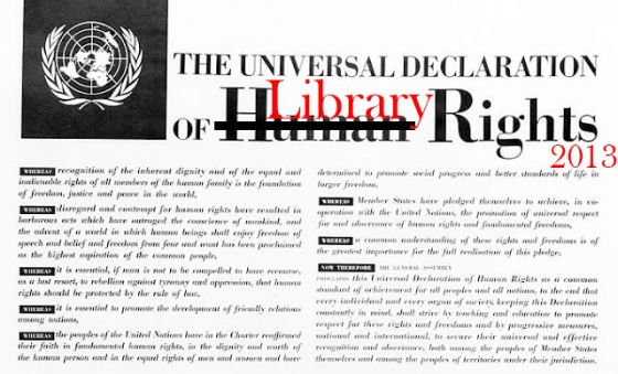 Universal declaration of library rights