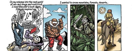 Rawicz incredible journey across the Himalayas is drawn by artist John Stuart Clark