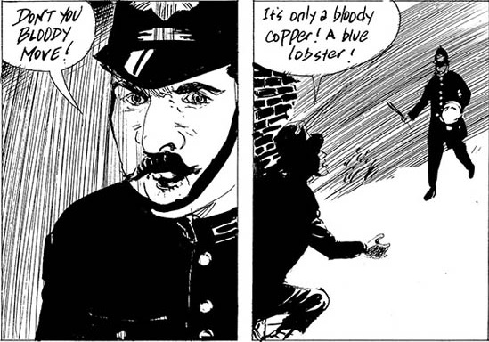 Panels from Eddie Campbell and Michael Eaton's chapter on Charlie Peace. released 8 May