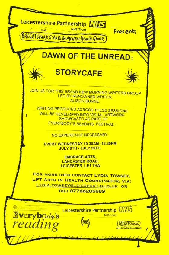 Dawn of the Unread Embrace Flyer (1)