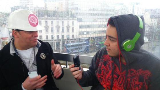 Youssef interviews Paul Fillingham for student radio
