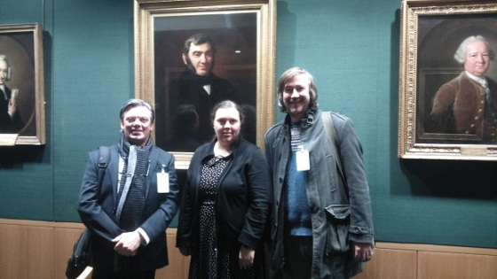Paul Fillingham, Stella Wisdom (digital curator at the British Library) and me
