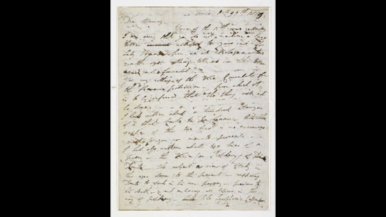 Byron's letter at the British Library discussing the Frame Breakers