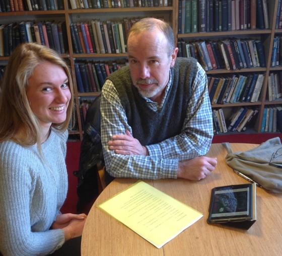 David Belbin and Ella Joyce at Bromley House Library