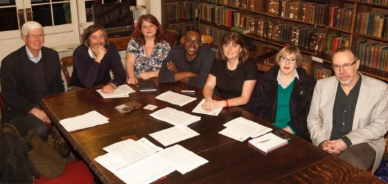 City of Literature Board: l-r: Victor Semmens, James Walker, Kathy McArdle, Henderson Mullin, Stephanie Sirr, Cat Arnold, David Belbin. (Photo © Graham Lester George)