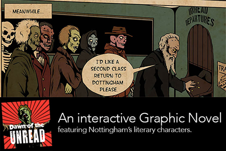 In Issue 1 William Booth appears in our remake of the classic Nottingham Tunes advert 'Second class return to Dottingham'